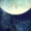 Starry sky moon